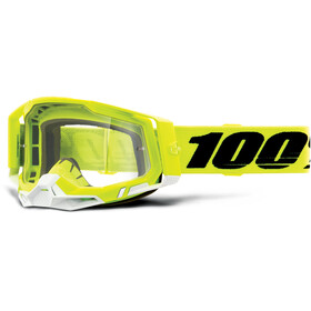 100% Racecraft Anti-Fog Goggles Gen2, yellow/clear